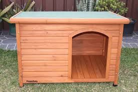 Dog Kennel Wooden Flat Roof large