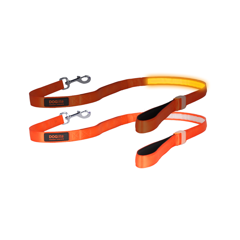 Doglite Lead Orange Sunset medium 135cm