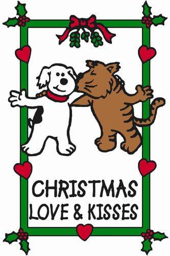 Edible Rawhide Christmas Card