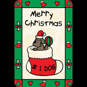 Edible Rawhide Christmas Card
