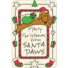 Edible Tawhide Christmas Card Merry Christmas from Santa Paws