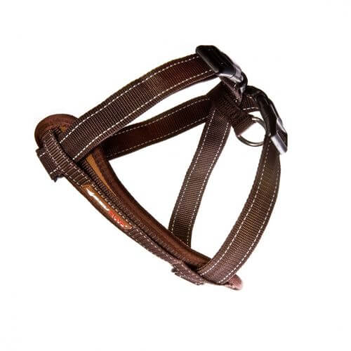 Ezy Dog Chest Harness Brown medium