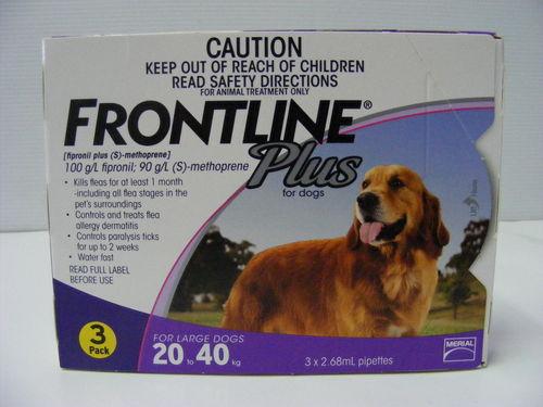 Frontline Plus 20kg   40kg   3pk