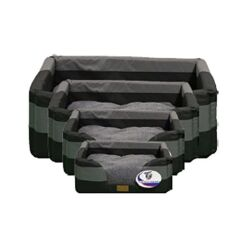 Itand39s Bed Time All Terrain Basket  Bed BlackGrey small