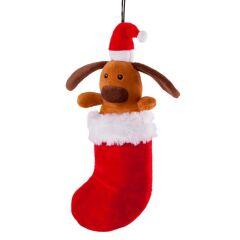 Kazoo Christmas Dog in Stocking large