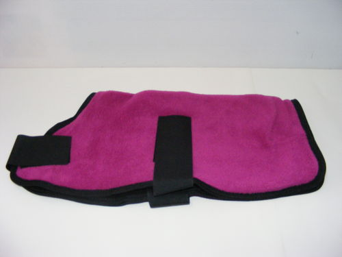 Polar Fleece Dog Coat 25cm Pink