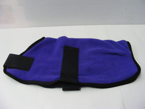 Polar Fleece Dog Coat 25cm Purple