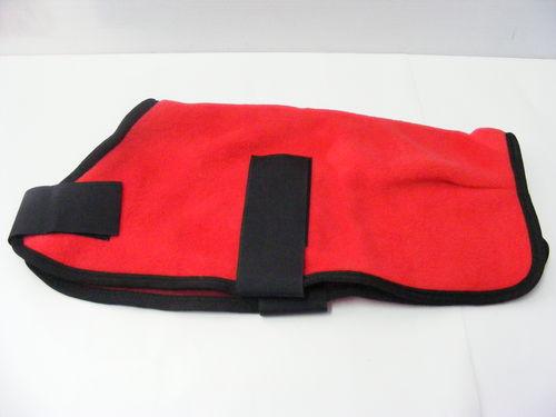 Polar Fleece Dog Coat 30cm Red