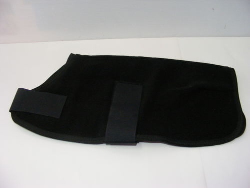 Polar Fleece Dog Coat 35cm Black
