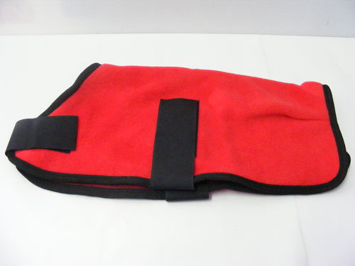 Polar Fleece Dog Coat 40cm Red
