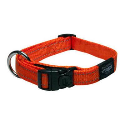Rogz Collar Fanbelt 34 56cm Orange