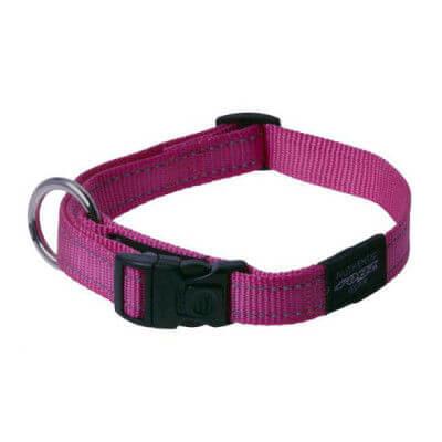 Rogz Collar Fanbelt  34 56cm Pink