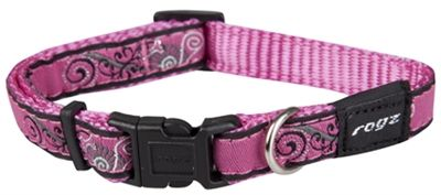 Rogz Collar Pink Bone 2031cm Small