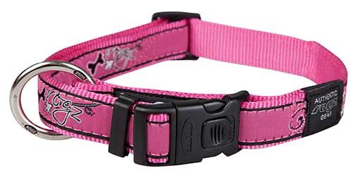 Rogz Collar Pink Bone 4370cm Extra Large