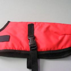 Ripstop Nylon Dog Coat Waterproof Red 25cm
