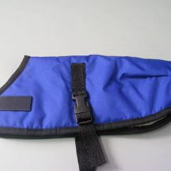 Ripstop Nylon Dog Coat Waterproof Blue 25cm