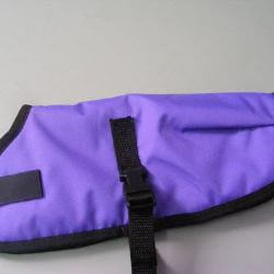 Ripstop Nylon Dog Coat Waterproof Purple 25cm