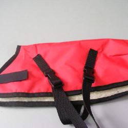 Ripstop Nylon Dog Coat Waterproof Red 30cm