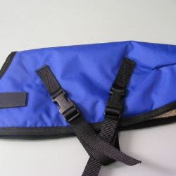 Ripstop Nylon Dog Coat Waterproof Blue 30cm