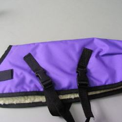 Ripstop Nylon Dog Coat Waterproof Purple 30cm