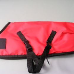 Ripstop Nylon Dog Coat Waterproof Red 35cm