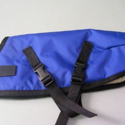 Ripstop Nylon Dog Coat Waterproof Blue 35cm