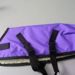 Ripstop Nylon Dog Coat Waterproof Purple 35cm