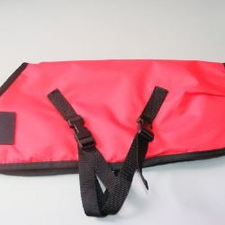 Ripstop Nylon Dog Coat Waterproof Red 40cm