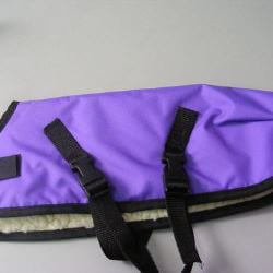 Ripstop Nylon Dog Coat Waterproof Purple 40cm