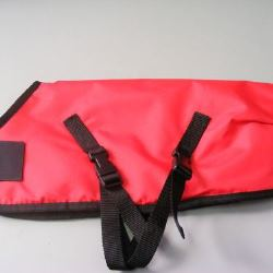 Ripstop Nylon Dog Coat Waterproof Red 45cm