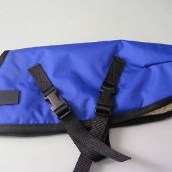Ripstop Nylon Dog Coat Waterproof Blue 45cm