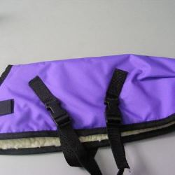 Ripstop Nylon Dog Coat Waterproof Purple 45cm