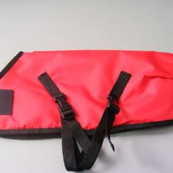 Ripstop Nylon Dog Coat Waterproof Red 50cm