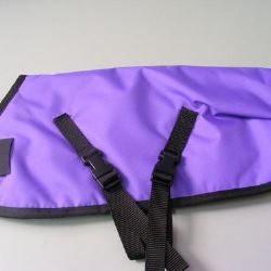 Ripstop Nylon Dog Coat Waterproof Purple 50cm