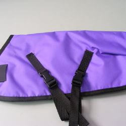 Ripstop Nylon Dog Coat Waterproof Purple 55cm