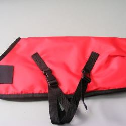 Ripstop Nylon Dog Coat Waterproof Red 60cm