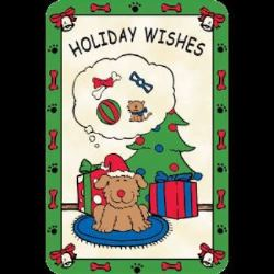 Edible Rawhide Christmas Card Holiday Wishes