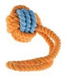 Rubber Rope Ball Tug large