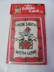 Edible Rawhide Christmas Card From Santa with Love