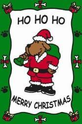 Edible Rawhide Christmas Card Ho Ho Ho