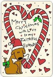 Edible Rawhide Christmas Card Faithful Friend