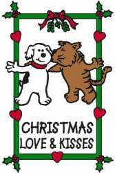 Edible Rawhide Christmas Card Love & Kisses