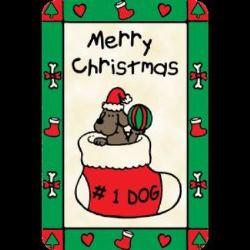 Edible Rawhide Christmas Card #1 Dog