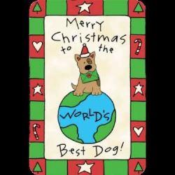 Edible Rawhide Christmas Card Worlds best dog