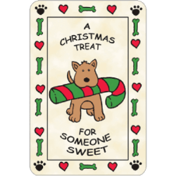 Edible Rawhide Christmas Card A Christmas Treat