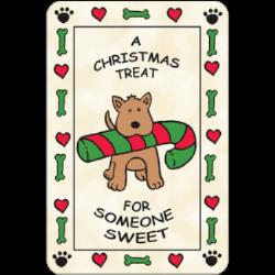 Edible Rawhide Christmas Card A Christmas Treat