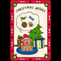 Edible Rawhide Christmas Card Christmas Wishes