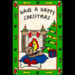 Edible Rawhide Christmas Card Have a Happy Christmas