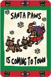Edible Rawhide Christmas Card Santa coming to town