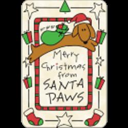 Edible Tawhide Christmas Card Merry Christmas from Santa Paws
